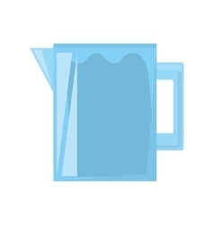 Pitcher water juicy kitchen icon vector