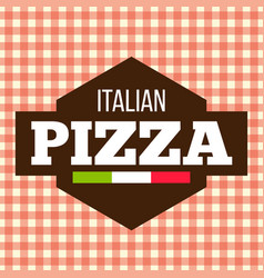 Pizza polygon brown logo italian vector