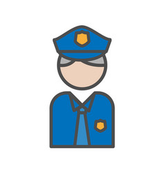 Police and security people avatar icon on white vector