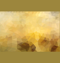 polygon background golden honey vector image