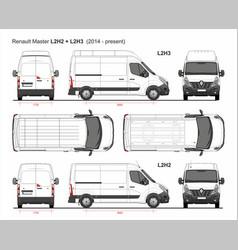 Renault master cargo van mwb l2 2014-present vector