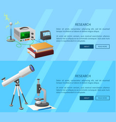 researches on electronics and natural sciences vector image