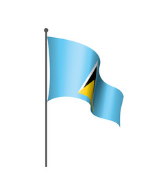 saint lucia flag on a white vector image
