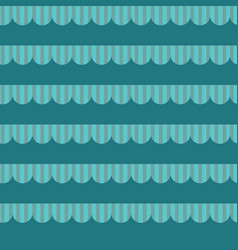 Scalloped edge with stripe on teal background vector