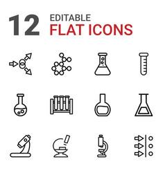 scientific icons vector image