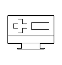 screen computer cross medical online support vector image