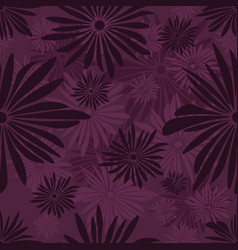 seamless floral pattern with dark and light purple vector image