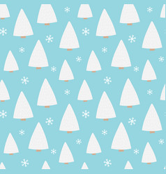 seamless pattern background with winter forest vector image
