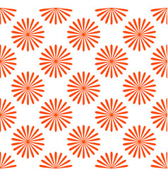 seamless pattern wallpaper with flower motifs vector image
