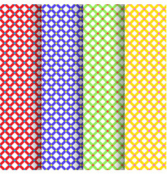 set of four beautiful patterns vector image