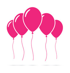 set of pink balloons vector image