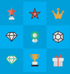 set of simple trophy icons elements brilliant vector image