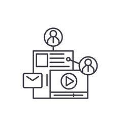 share content line icon concept share content vector image