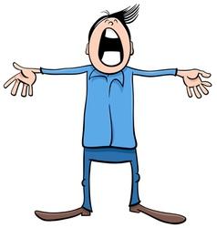 Singing boy cartoon vector