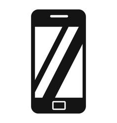 Smartphone black simple icon vector image