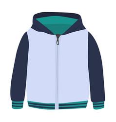 Sweatshirt icon on a white background zip vector