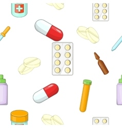 Tablets pattern cartoon style vector