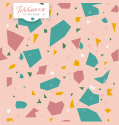 Terrazzo seamless patternpink girly colors vector