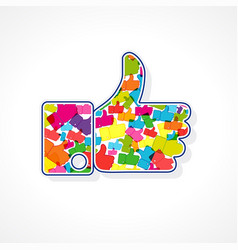 thanks for internet followers vector image