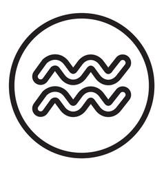 Thin line aquarius sign icon vector