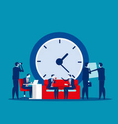Time management concept business clock office vector
