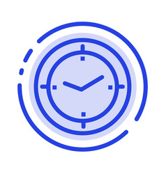Time timer compass machine blue dotted line line vector