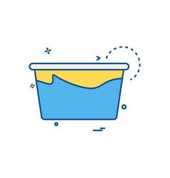 Tub icon design vector