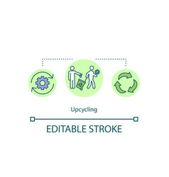 Upcycling concept icon vector