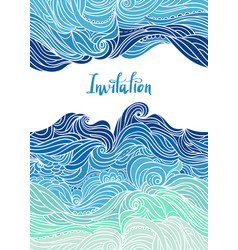 waves flyer templates white back-06 vector image