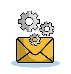 Yellow envelope design vector
