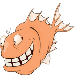 Deep water fish Cartoon vector image vector image