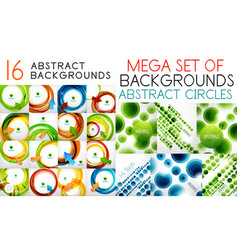mega set of swirl circles abstract vector image vector image
