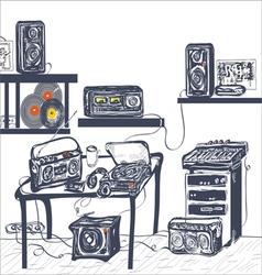 Musical equipment vector