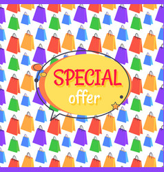 special offer sale advertisement seamless pattern vector image