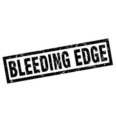Square grunge black bleeding edge stamp vector