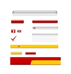 Web Elements Design Set vector image