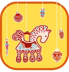 decoration horse vector image
