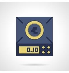 Digital scales flat color icon vector image vector image