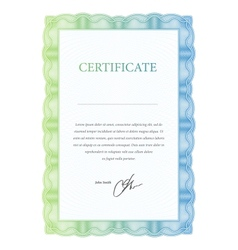 Template certificate diplomas and currency vector image vector image