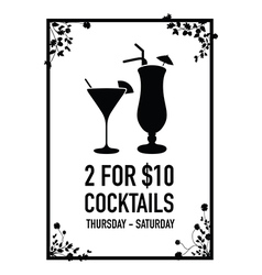 Two for ten dollars deal vector