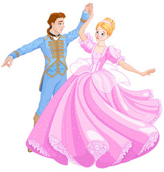 ball dance of cinderella and prince vector image