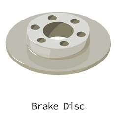 brake disc icon isometric 3d style vector image vector image