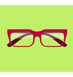 Classic Glasses Icon vector image vector image
