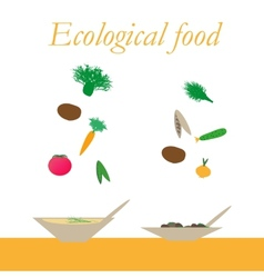 Ecological food from natural products vector image