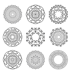 Set Mandalas Round Ornament vector image vector image