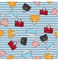 set of different women handbags endless texture vector image