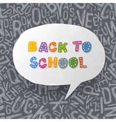 back to school abstract background vector image