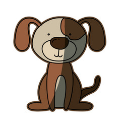 colorful caricature with cute dog vector image