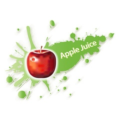 Label for apple juice and drinks vector image