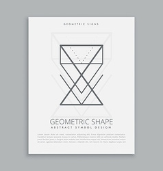 lineart geometric shapes vector image